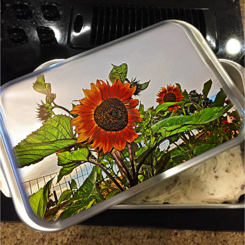 Sunflowers and Storm Cake Pan with Lid
