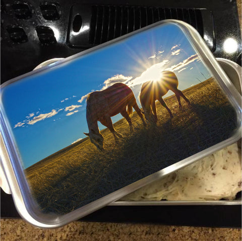 Sunrise Splendor Cake Pan with Lid