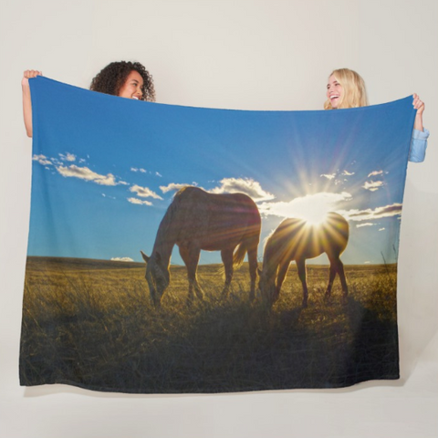Sunrise Splendor Fleece Blanket