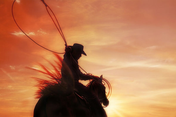 Sunset Roper Canvas Print