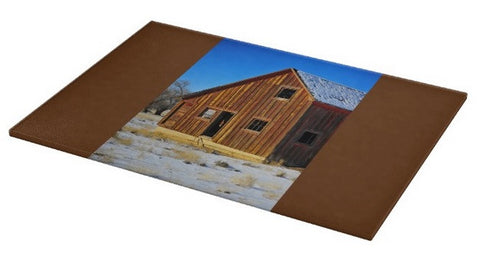 Sunset Barn Cutting Board