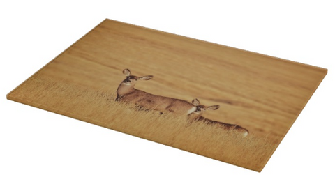 Sunset Deer Cutting Board