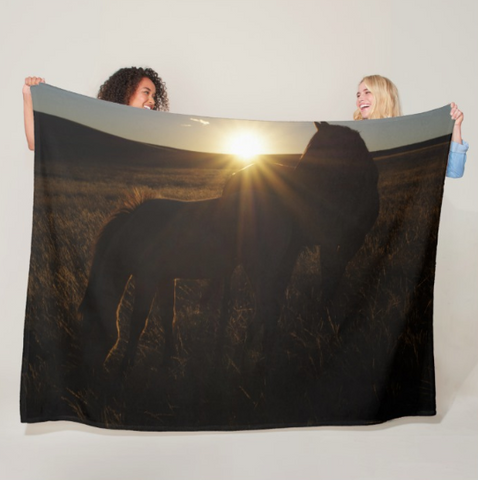 Sunset Love Fleece Blanket