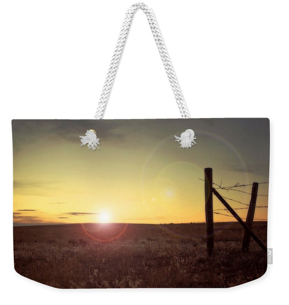 Sunset on the Prairie Weekender Tote bag