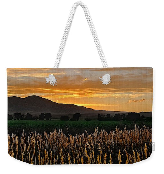 Western Skies at Sunset Weekender Tote bag