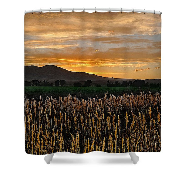 Western Skies at Sunset Shower Curtain