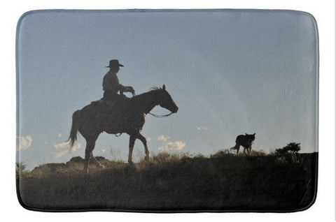 Sunset Ride Bath Mat