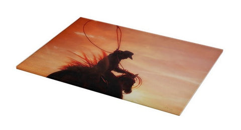 Sunset Roper Cutting Board