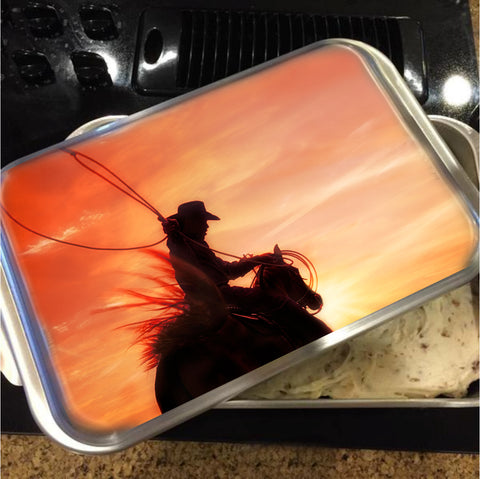Sunset Roper Cake Pan with Lid