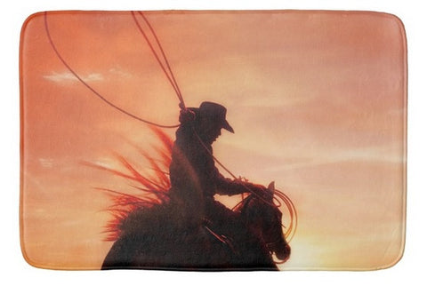 Sunset Roper Bath Mat