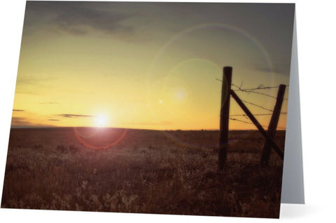 Sunset on the Prairie Note Cards and Greeting Cards (25 Pack)