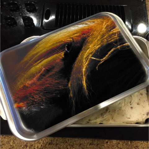 Sunset on the Wild Cake Pan with Lid