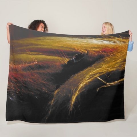 Sunset on the Wild Fleece Blanket