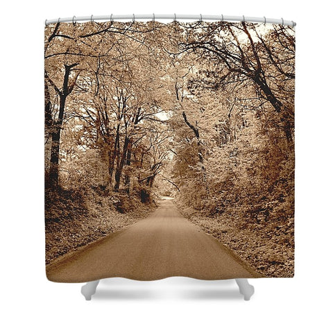 Texas Road Shower Curtain