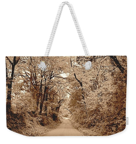 Texas Road Weekender Tote bag
