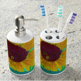 The Sunflower and The Bee Bathroom Set