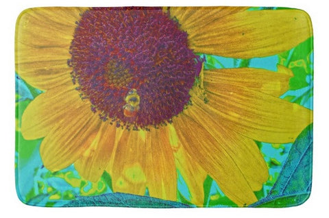 The Sunflower and The Bee Bath Mat