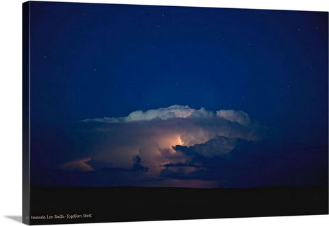 Thunder Boomer Over Wyoming Skies Canvas Print