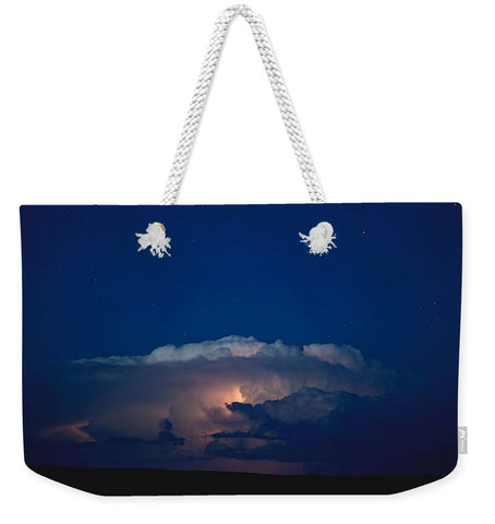 Thunder Boomer Over Wyoming Skies Weekender Tote bag