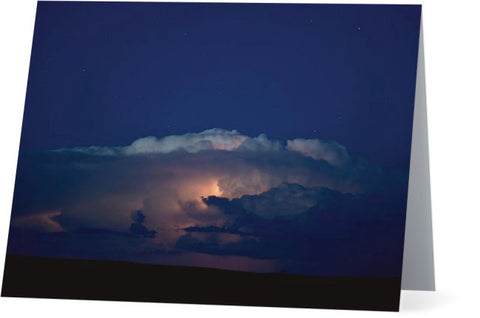 Thunder Boomer Over Wyoming Skies Note Cards and Greeting Cards (25 Pack)