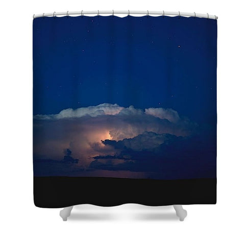 Thunder Boomer Over Wyoming Skies Shower Curtain