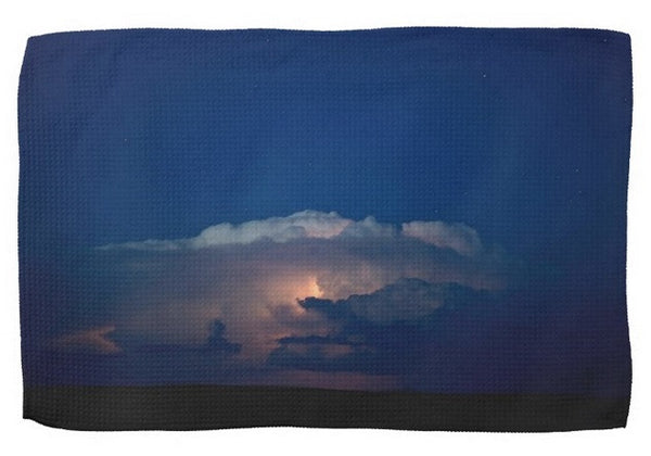 Thunder Boomer Over Wyoming Skies Kitchen Towel