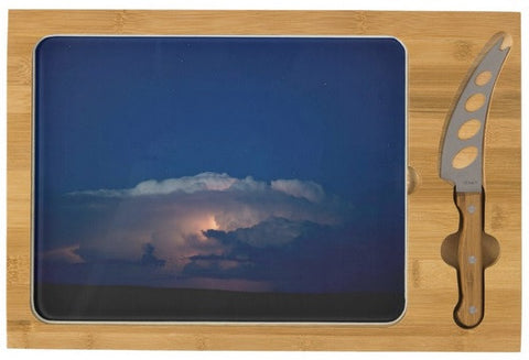 Thunder Boomer Over Wyoming Skies Cheese Board