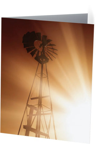 Tommy's Windmill Note Cards and Greeting Cards (12 Pack)