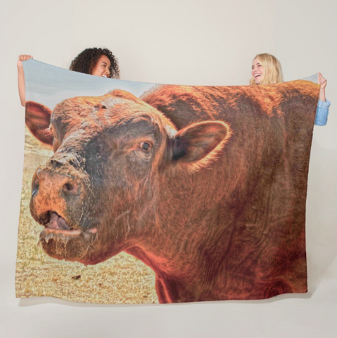 Too Close for Bull Fleece Blanket