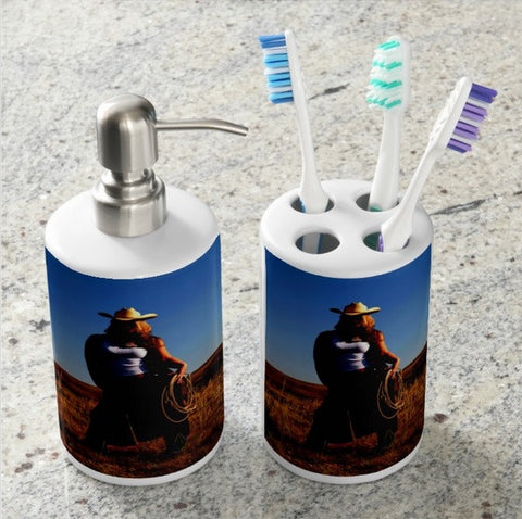 Tougher Than Nails Bathroom Set