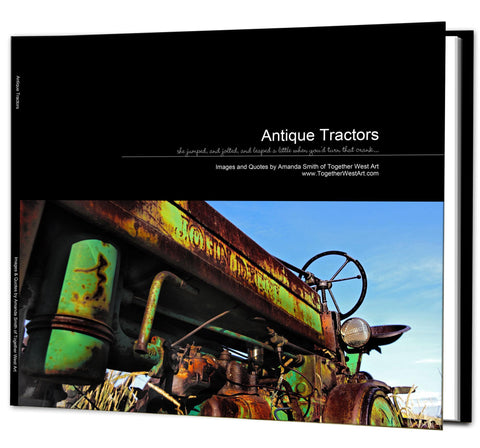 Antique Vintage Tractors Coffee Table Book - available in Soft or Hard cover