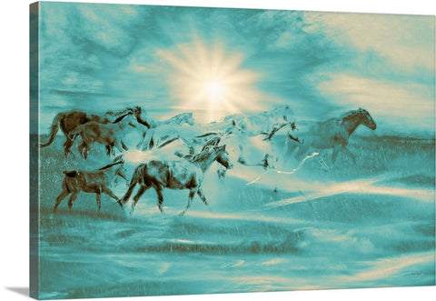 Turquoise Run in Spirit Canvas Print