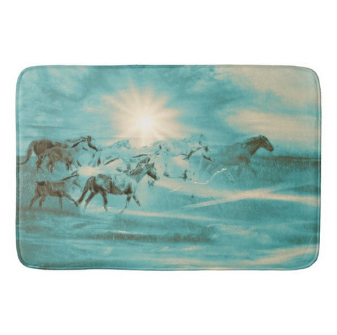 Turquoise Run in Spirit Bath Mat