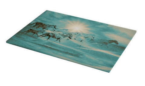 Turquoise Run in Spirit Cutting Board