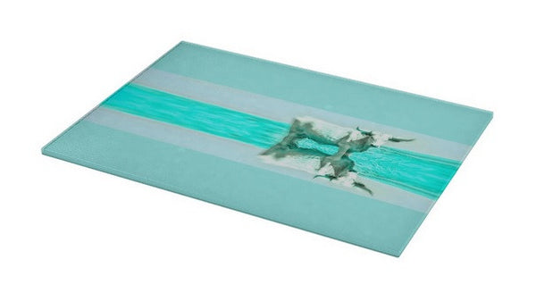 Turquoise and Steer Cutting Board