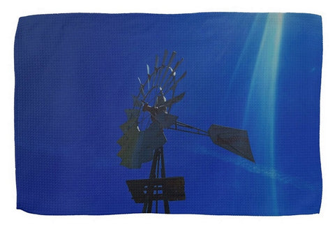 Underwater Windmill Kitchen Towel