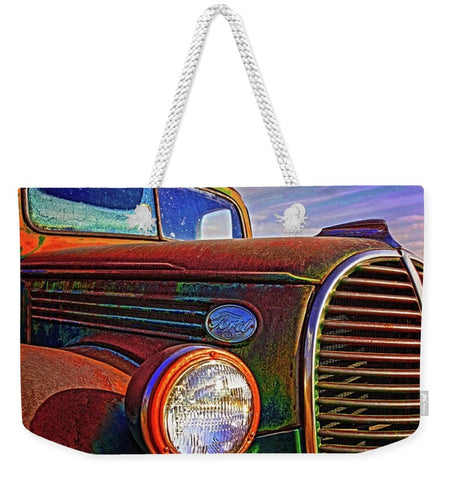 Vintage Rust N Colors Weekender Tote bag