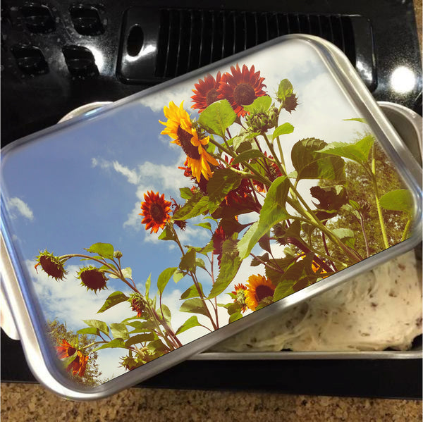 Vintage Sunflowers Cake Pan with Lid