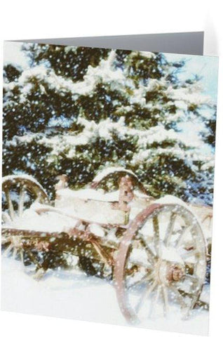 Vintage Winter Note Cards and Greeting Cards (25 Pack)
