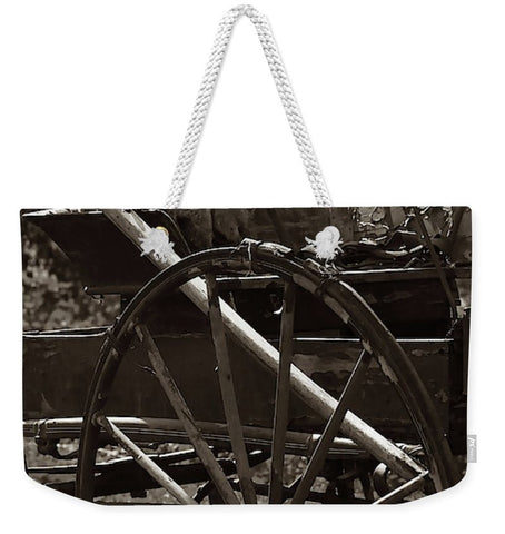 Wagon And Wheel Weekender Tote bag