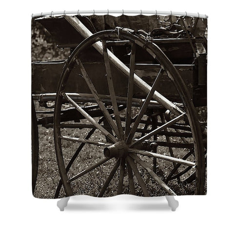 Wagon And Wheel Shower Curtain