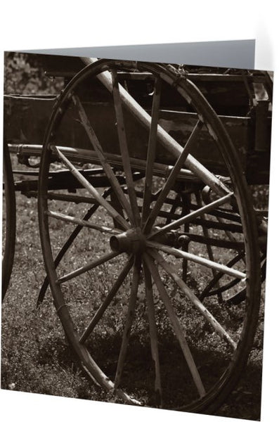 Wagon and Wheel Note Cards and Greeting Cards (25 Pack)