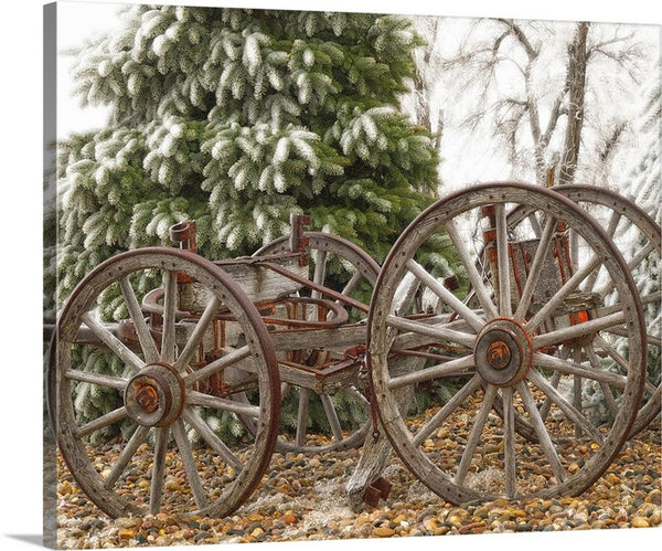 Wagon in Winter Canvas Print