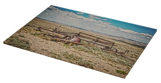 Wagon on Green Mountain Cutting Board