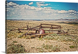 Wagon on Green Mountain Canvas Print