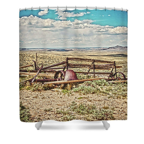 Wagon on Green Mountain Shower Curtain