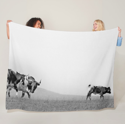 Walking Home from School Fleece Blanket
