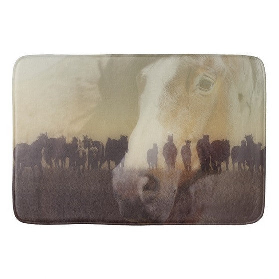 Watch Over the Last Run at Dusk Bath Mat