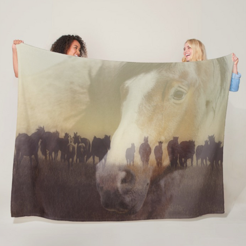Watch Over the Last Run at Dusk Fleece Blanket