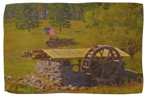 Water Wheel House Kitchen Towel